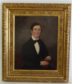 O/C PORTRAIT VERY YOUNG MAN, AMMI PHILIPS c.1825/30