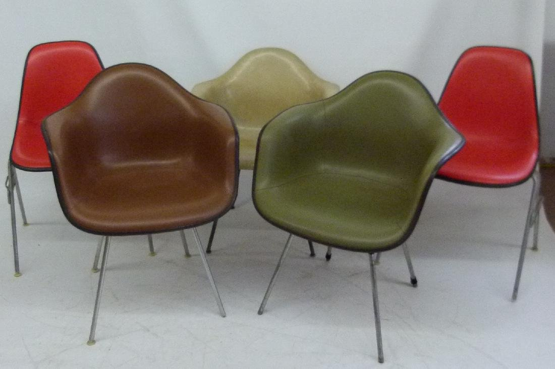 Vintage Herman Miller Chairs >> Lot 5 Assorted Vintage Herman Miller Chairs
