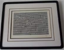 LITHO KINETIC/OPTICAL ART SIGNED AGAM (YAACOV)