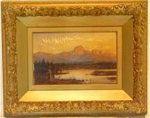 O/C WESTERN LANDSCAPE SIGNED WILL WEX, 19TH C.