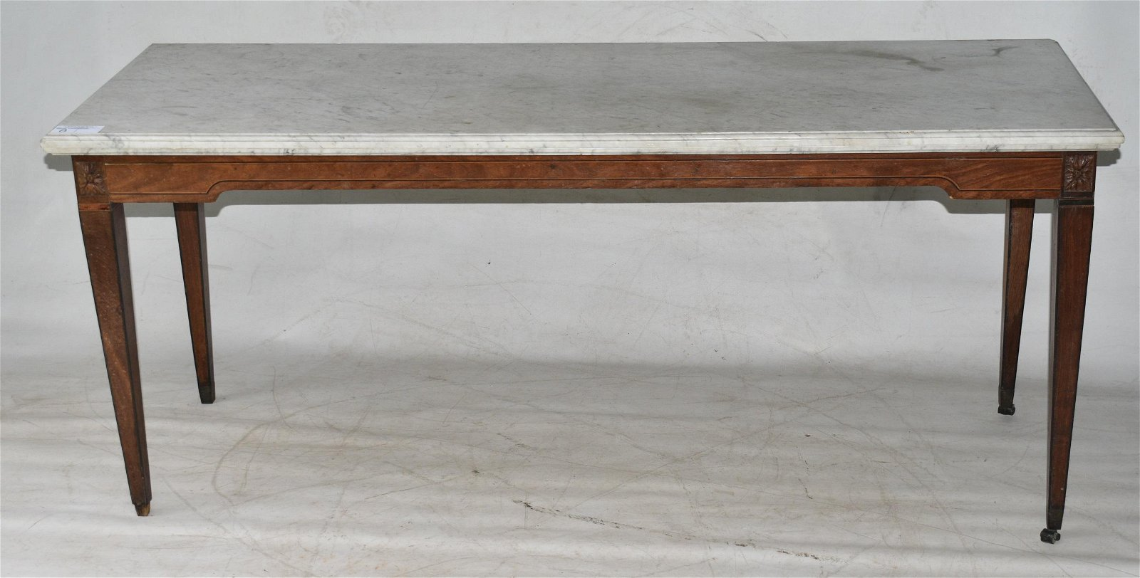 FEDERAL MARBLE TOP MAHOG. MIXING/CONSOLE TABLE 18/19thc