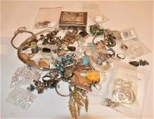 LARGE LOT CONTEMP STERLING SILVER JEWELRY