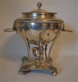 ENGLISH SILVER KETTLE ON STAND, LONDON 1804