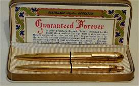 EVERSHARP SKYLINE 14K GOLD PENPENCIL SET C 194050