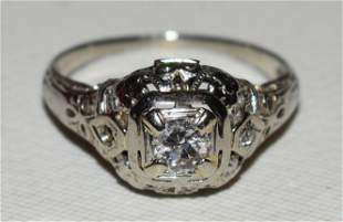 ART DECO PLATINUM/DIAMOND RING, C. 1920
