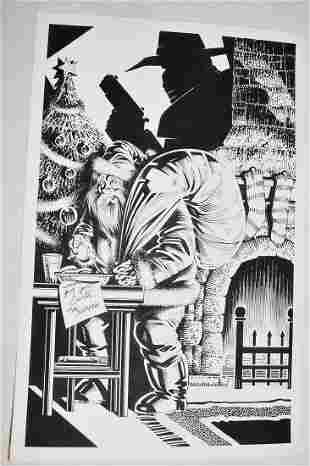 2 RON WILBER P/I COMIC ILLUS. THE SHADOW/ACES #9