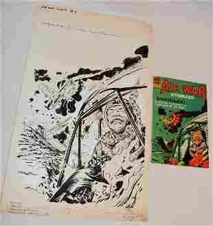 "P/I COMIC COVER ILLUS. ""AIR WAR STORIES""  1965"