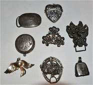 VICTART NOUVEAU STER CLIPS PINS BUCKLES 1920TH C