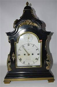 ENGLISH SHELF CLOCK SGN. MARRIOTT LONDON, 18TH C.