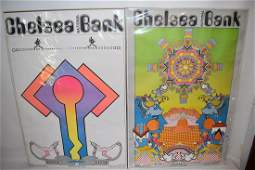 """""""CHELSEA NATIONAL BANK"""" PETER MAX POSTERS c.1970"""