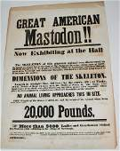 "TYPE PRINTED ""THE GREAT AM.""MASTODON"" EX. BROADSIDE"