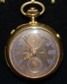THEODORE B. STARR 18KT YELLOW GOLD CHRONOGRAPH 19th c.