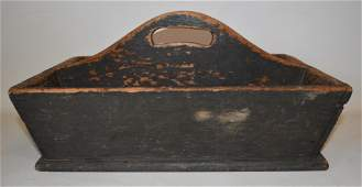HUDSON VALLEY PAINTED PINE KNIFE BOX 19TH C