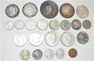 LOT ASST. US & FOREIGN COINS INCL. SILVER