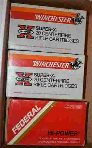 LOT (3) BOXES 30-06 CAL. WINCHESTER/FEDERAL AMMO