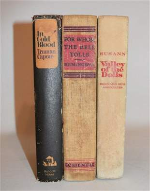 (3) VOLS. INCL. FOR WHOM THE BELL TOLLS, HEMINGWAY 1940