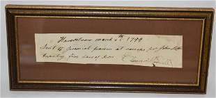 EARLY HAVERSTRAW RECEIPT JEREMIAH PIERSON, C. 1799