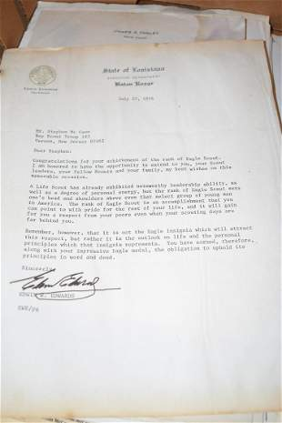 LG LOT ASST. GOVERNOR SIGNED LETTERS TO STEPHEN MC CANN