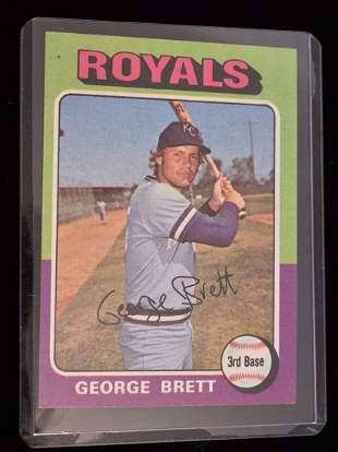 TOPPS 1975 GEORGE BRETT ROOKIE CARD #228
