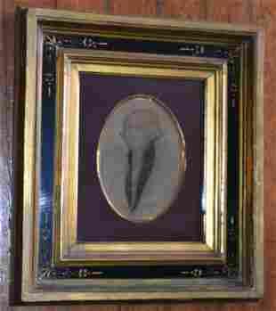 W/C PENCIL PORTRAIT GEORGE WASHINGTON SIGNED MILLITTE
