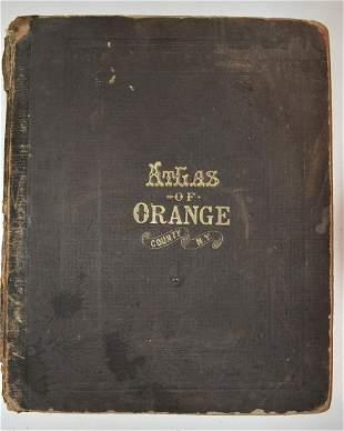 VOLUME ORANGE COUNTY ATLAS BY F.W. BEERS 1875, COMPLETE