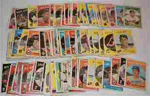 LOT (127) 1959 TOPPS BASEBALL CARDS (GOOD TO VERY GOOD)
