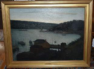 O/C RIVER VIEW SIGNED AARON HARRY GORSON