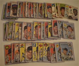 LOT (58) 1954 TOPPS BASEBALL CARDS (GOOD TO VERY GOOD)
