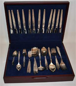 SERVICE (12) 5 PC PL. SETTING CARL MERTENS S/P FLATWARE