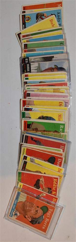 LOT (56) 1953 TOPPS BASEBALL CARDS (GOOD TO VERY GOOD)