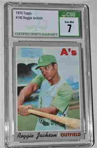 TOPPS 1969/70 REGGIE JACKSON ROOKIE BASEBALL CARD #140