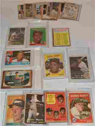 LOT (29) 1950/60 TOPPS BASEBALL CARDS INCL. MANTLE