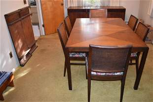 JOHN STUART BLACK WALNUT DINING ROOM SUITE