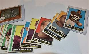 LOT (120) 1961 TOPPS FOOTBALL CARDS,EXCELLENT-NEAR MINT