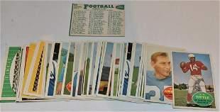 LOT (53) 1960 TOPPS FOOTBALL CARDS INC. ALAN AMECHE