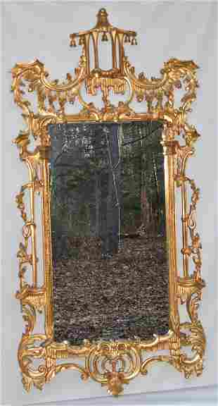 ITALIAN CARVED/GILT CHINESE CHIPPENDALE STYLE MIRROR