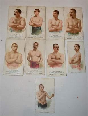 LOT (9) ALLEN & GINTERS CIGARETTE CARDS (BOXERS)