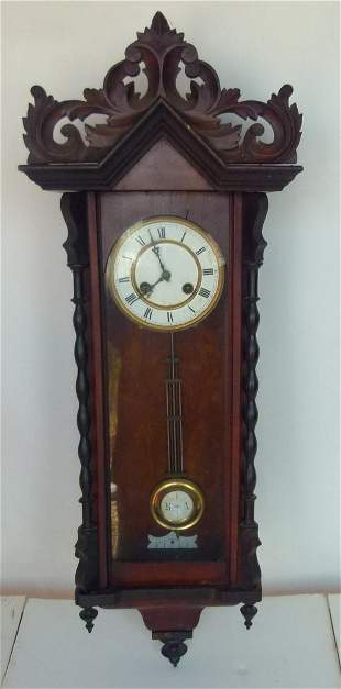 VIENNA REGULATOR WALL CLOCK, 19TH C.
