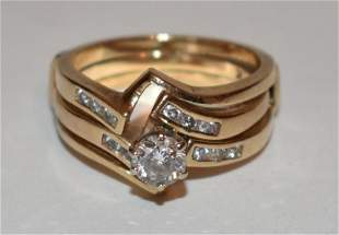 CONT. 14KT YELLOW GOLD/DIAMOND ENGAGEMENT RING