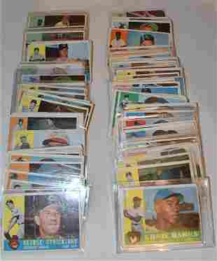 LOT (155) 1960 TOPPS BASEBALL CARDS (GOOD TO VERY GOOD)