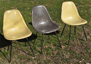 LOT (3) EAMES SHELL CHAIRS, C. 1958