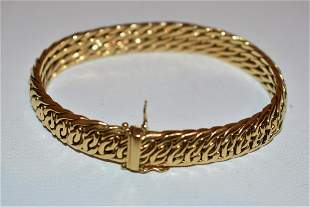TIFFANY & CO. DECO 18KT YELLOW GOLD LINK BRACELET