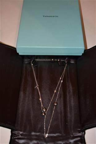 TIFFANY & CO. TAHITIAN BLACK PEARL/DIA. PLAT. NECKLACE