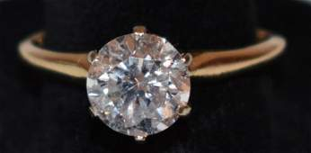 VINTAGE SOLITAIRE DIAMOND ENGAGEMENT RING W/ 1.9 CT