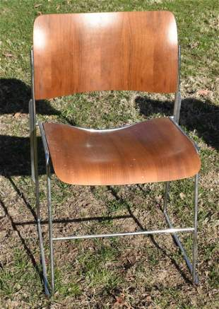 DAVID ROWLAND FORMED MAHOGANY CHAIR, C. 1973