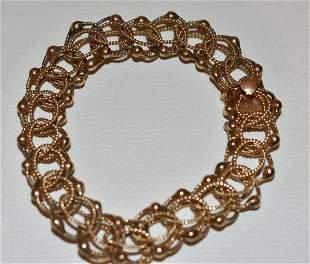 DECO 14KT YELLOW GOLD CHARM BRACELET, C. 1940/50