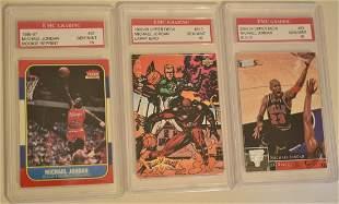 3 GRADED BASKETBALL CARDS, MICHAEL JORDAN GEM MINT 10