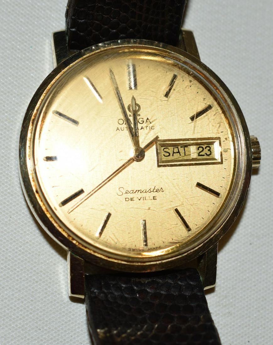 OMEGA 14KT SEAMASTER DE VILLE DAY/DATE, C. 1960/70