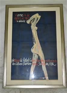 PRINT/POSTER RAFAEL COLON MORALES SIGNED IN PLATE HOMAR