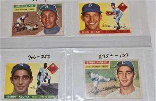 (4) 1955 TOPPS BASEBALL CARDS INCL. KOUFAX ROOKIE CARD